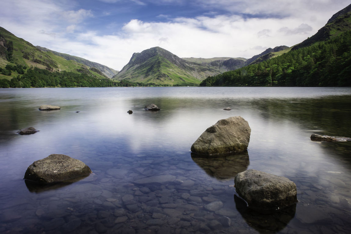Buttermere, Cumbria Beauty In Nature Cloud - Sky Day Lake Landscape Mountain Nature No People Outdoors Reflection Rock - Object Scenics Sky Tranquil Scene Tranquility Water Waterfront