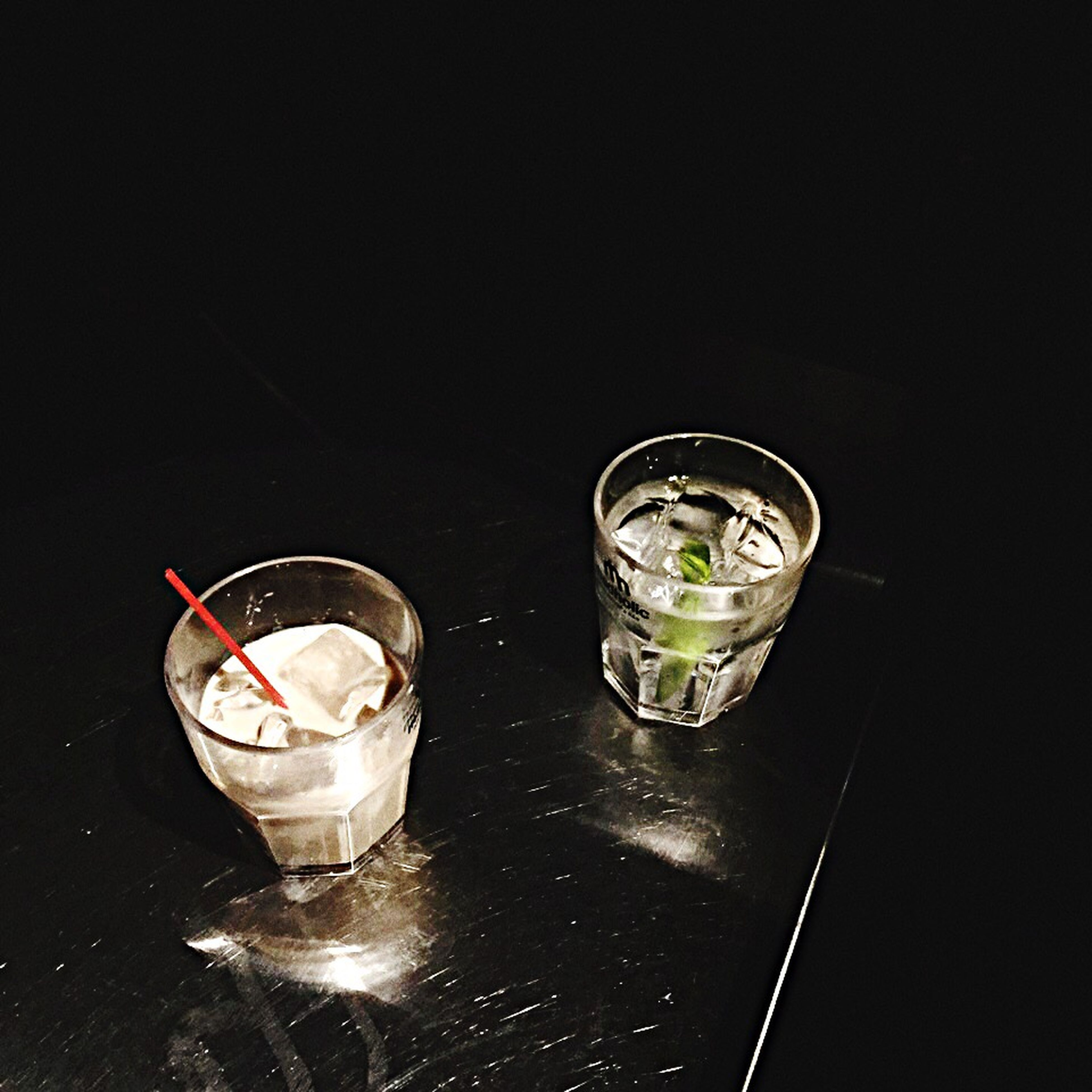 food and drink, freshness, no people, black background, modern, man made object, indulgence, darkroom