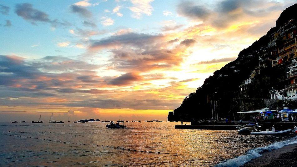 Stunning Sunset, Sky is on Fire Amalfi Coast Italy🇮🇹