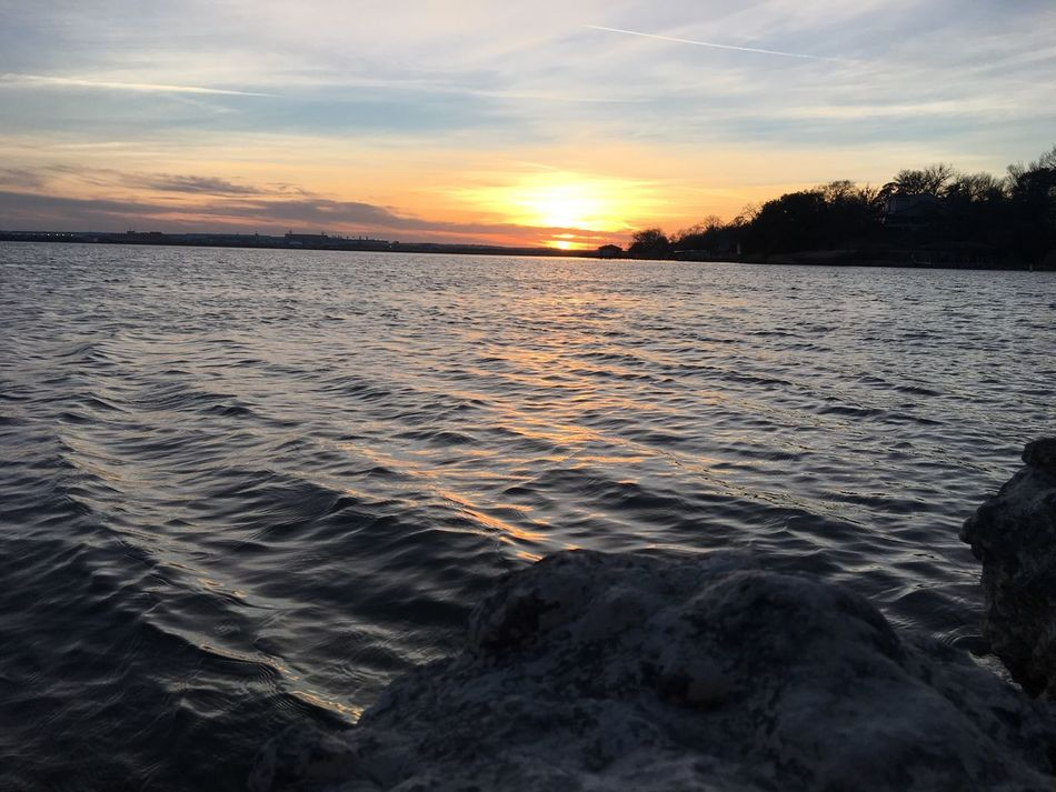 Lake View Lake Sunset Water Nature Sky Beauty In Nature Outdoors Mhgb Fort Worth