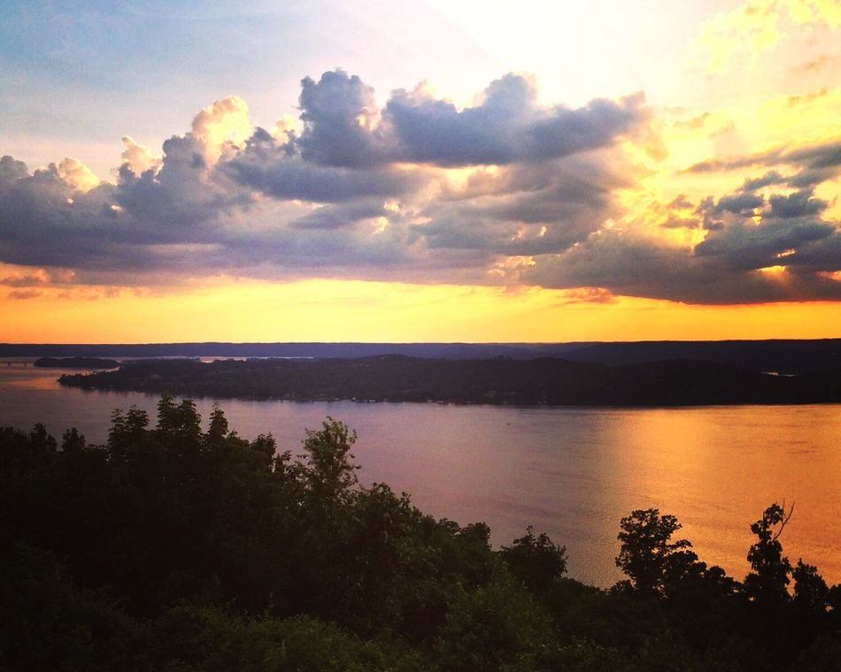Guntersville Lake at sunset from The Lodge. Scenics Tranquil Scene Water Sunset Beauty In Nature Tranquility Tree Idyllic Sky Cloud - Sky Nature Majestic Sea Non-urban Scene Tourism Remote Calm Ocean Dramatic Sky Vacations First Eyeem Photo