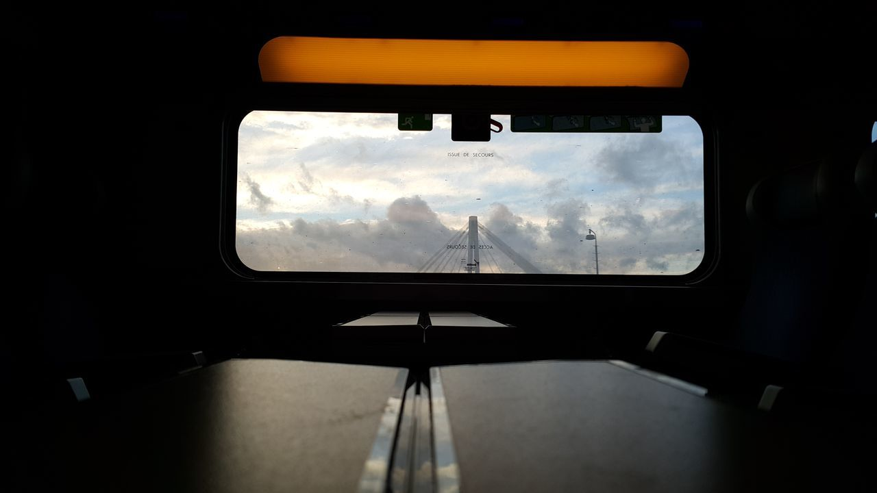 Window Vehicle Interior Transportation No People Cloud - Sky Sky Day Train Traveling Looking Through Window Looking Out Of The Window Looking Out On The Train Evening Evening Sky TGV