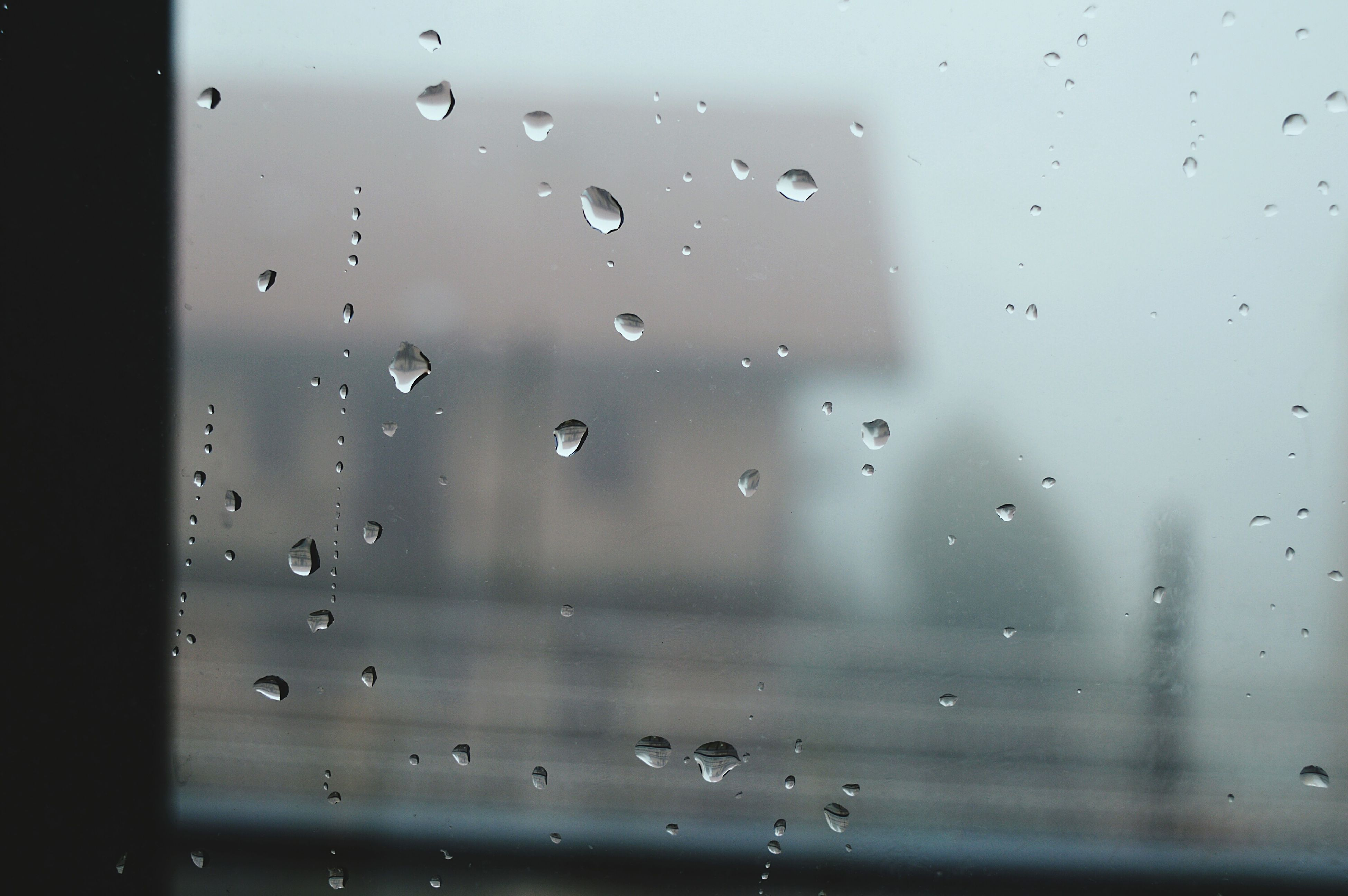 drop, wet, window, indoors, rain, transparent, water, glass - material, raindrop, full frame, weather, backgrounds, glass, focus on foreground, close-up, season, sky, droplet, water drop, monsoon
