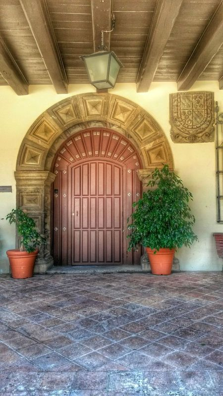 Poble Espanyol Plant Architecture Built Structure No People Building Exterior Door Arch Big Door Gateway Gate Wood Ceiling EyeEmNewHere