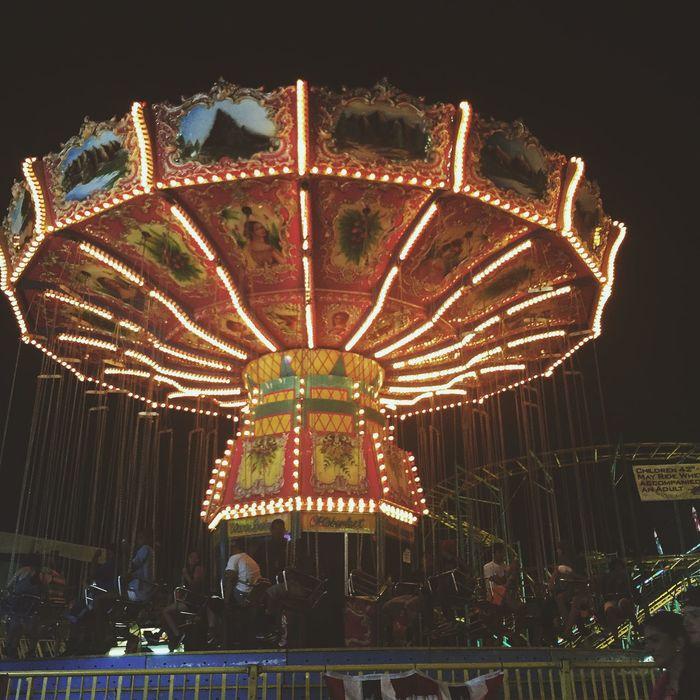 Swing Fair Alameda County Night Out Amusementpark Carnival