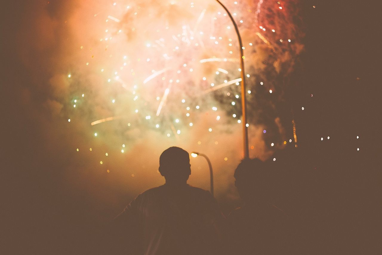 Beautiful stock photos of fireworks, Arts Culture And Entertainment, Auto Post Production Filter, Back Lit, Celebration