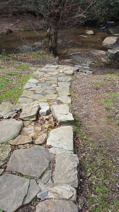 Stone steps to the creek High Angle View Outdoors Nature Day No People History Built Structure Beauty In Nature Campbell's Covered Bridge Nature Photography Love Where You Live Tranquility Outdoor Living Outdoor Photography Nature Exploring