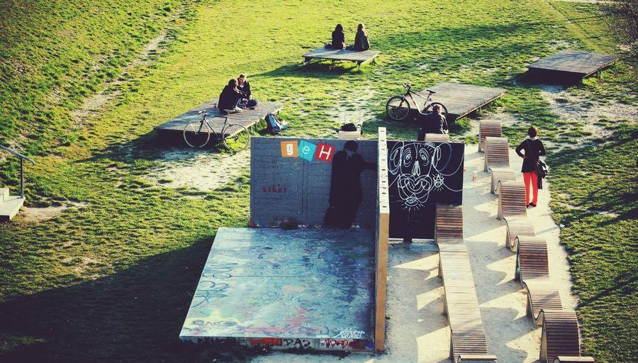 Can You Find The Hidden...? Urban Art By JUNIQE People Watching Enjoying The Sun