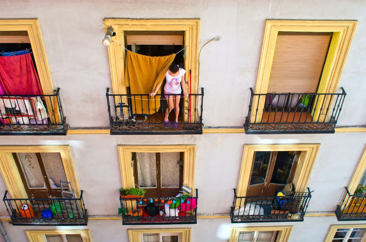 Madrid Rooftop Roof SPAIN Snapshots Of Life Girl House Colorful Travel Photography From The Rooftop