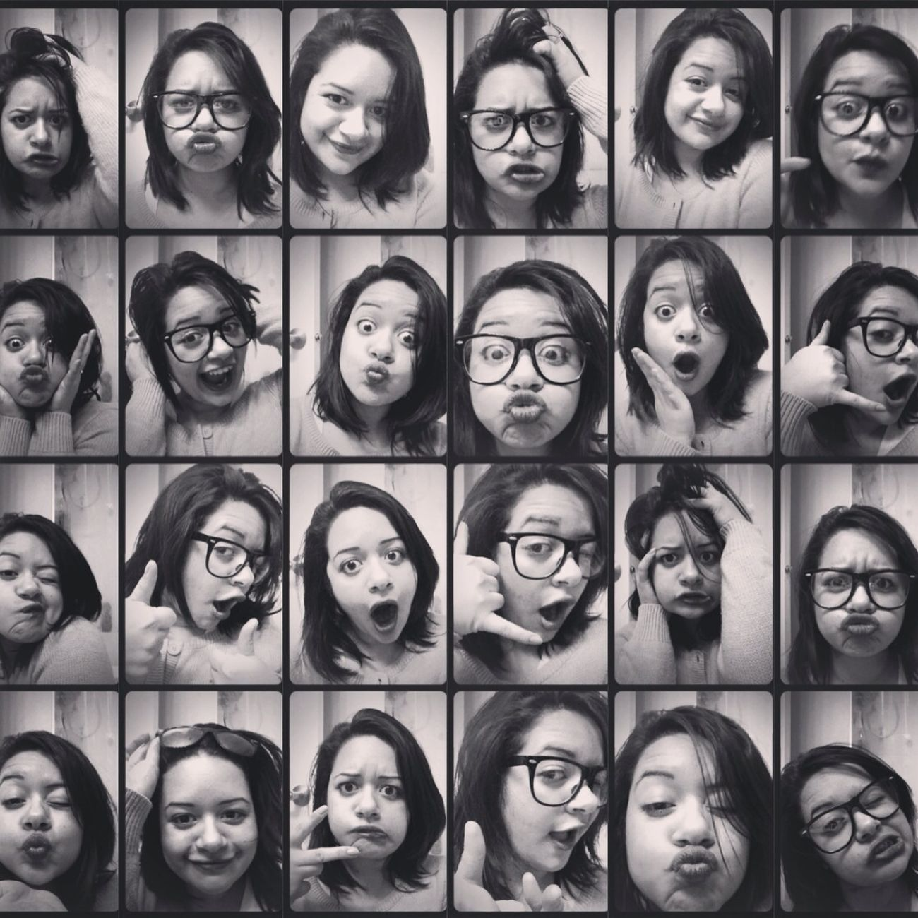 The many faces of me :D