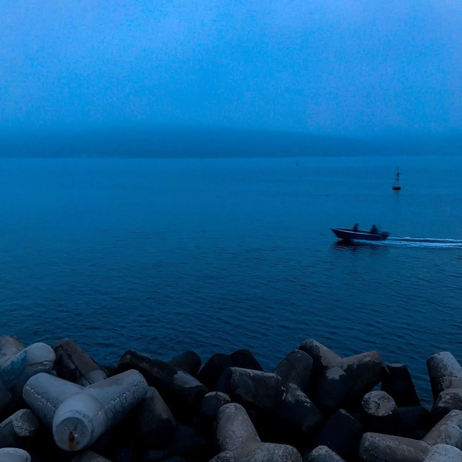 Sea Water Horizon Over Water Tranquil Scene Nature Scenics Beauty In Nature Outdoors Tranquility Day Blue Nautical Vessel No People Sky Groyne