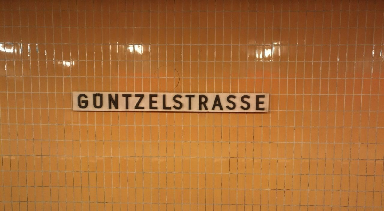 Berlin Subway Station Subway Berlin Subway Station Signage Berlin Subway Berlin Underground Underground No People No Filter, No Edit, Just Photography No Filter First Eyeem Photo