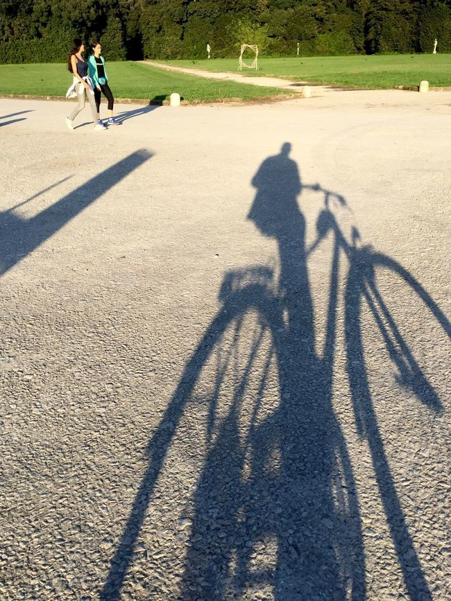 Two People Moving Park Outdoors Sunlight Shadow ThatsMe Bike The Purist (no Edit, No Filter) Silhouette