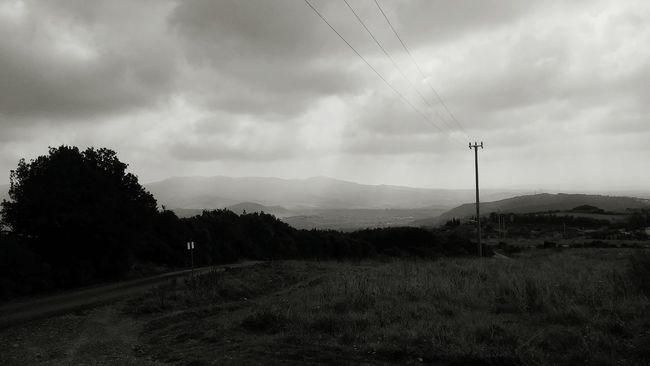 Black And White Landscape Clouds OverviewPoint