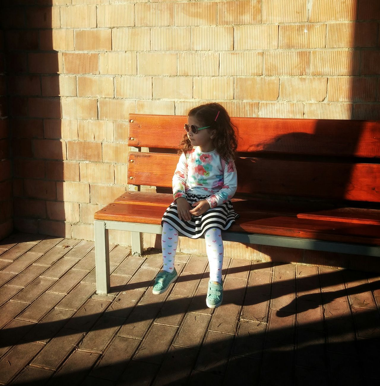Hello World Tbilisi Georgia Eye4photography  EyeEm Gallery Colorful Little Girl Waiting For The Bus Little Lady