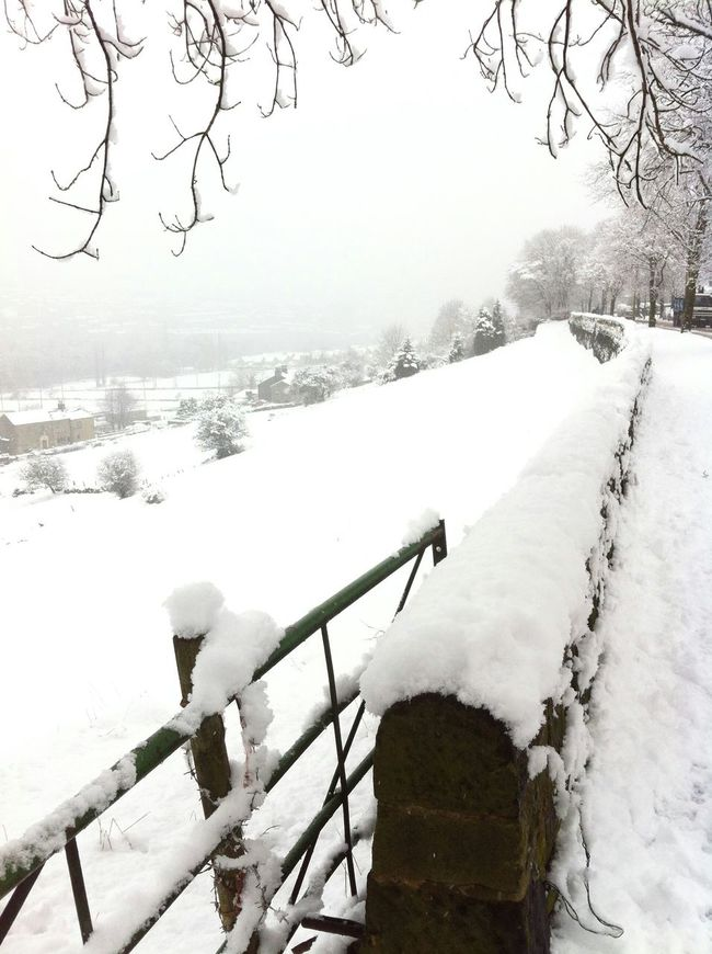 Sowerby Bridge village covered in snow. January 2015 Wall Gate Snow Nature Fields Dean Serene Nostalgia Trees Wild