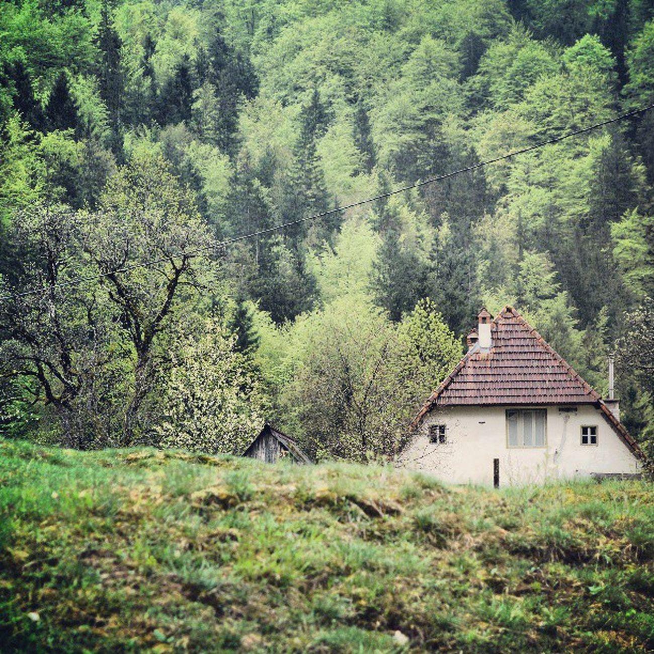 Kmečka hiša. Slovenia Trenta Igslovenia Slovenija