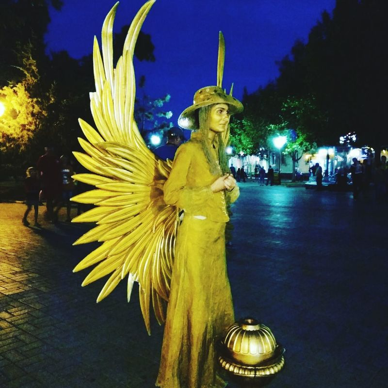 Angel Angel Wings Angel Statue Gold Golden Angel Mime Mime Artist Trevel Trevelling Treveler Holidays ☀ Ukraine 💙💛 Ukrainian Girl Ukraine_art Ukraine People Photography Natalie💘 Ilikeit Nataliematrix