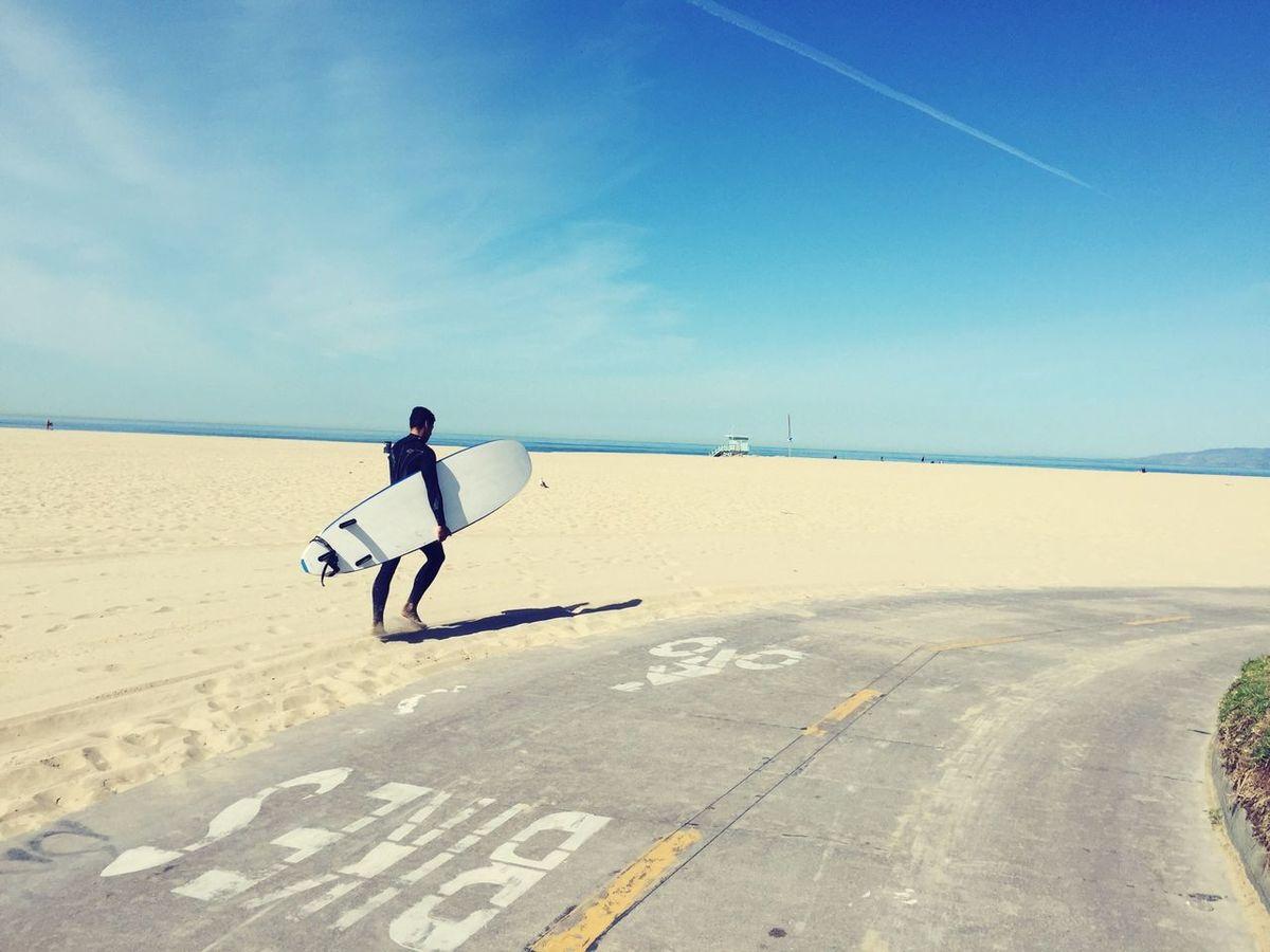 Santa Monica Surfer Just Around The Corner Surf's Up