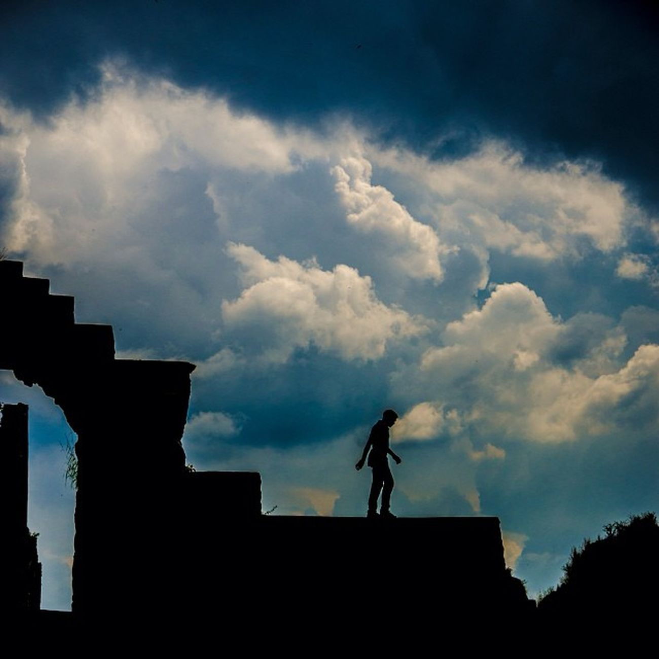 Silhouette Photography Ihithro Picoftheday bestoftheday photooftheday nikon imagehub instagram instago instagood instaplace in hyderabad india golkonda fort blue sky followme facebook page
