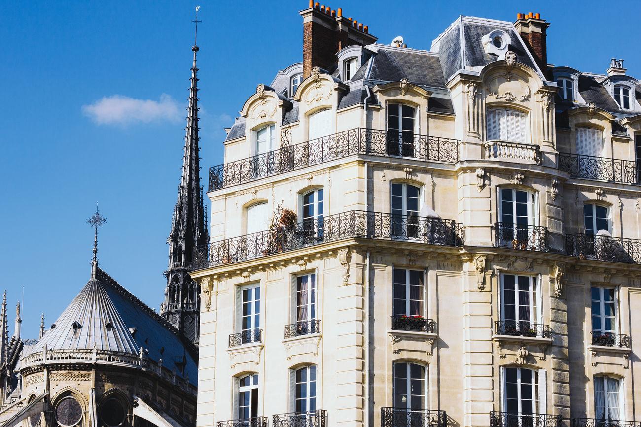 Beautiful stock photos of notre dame, Architecture, Building, Building Exterior, Built Structure