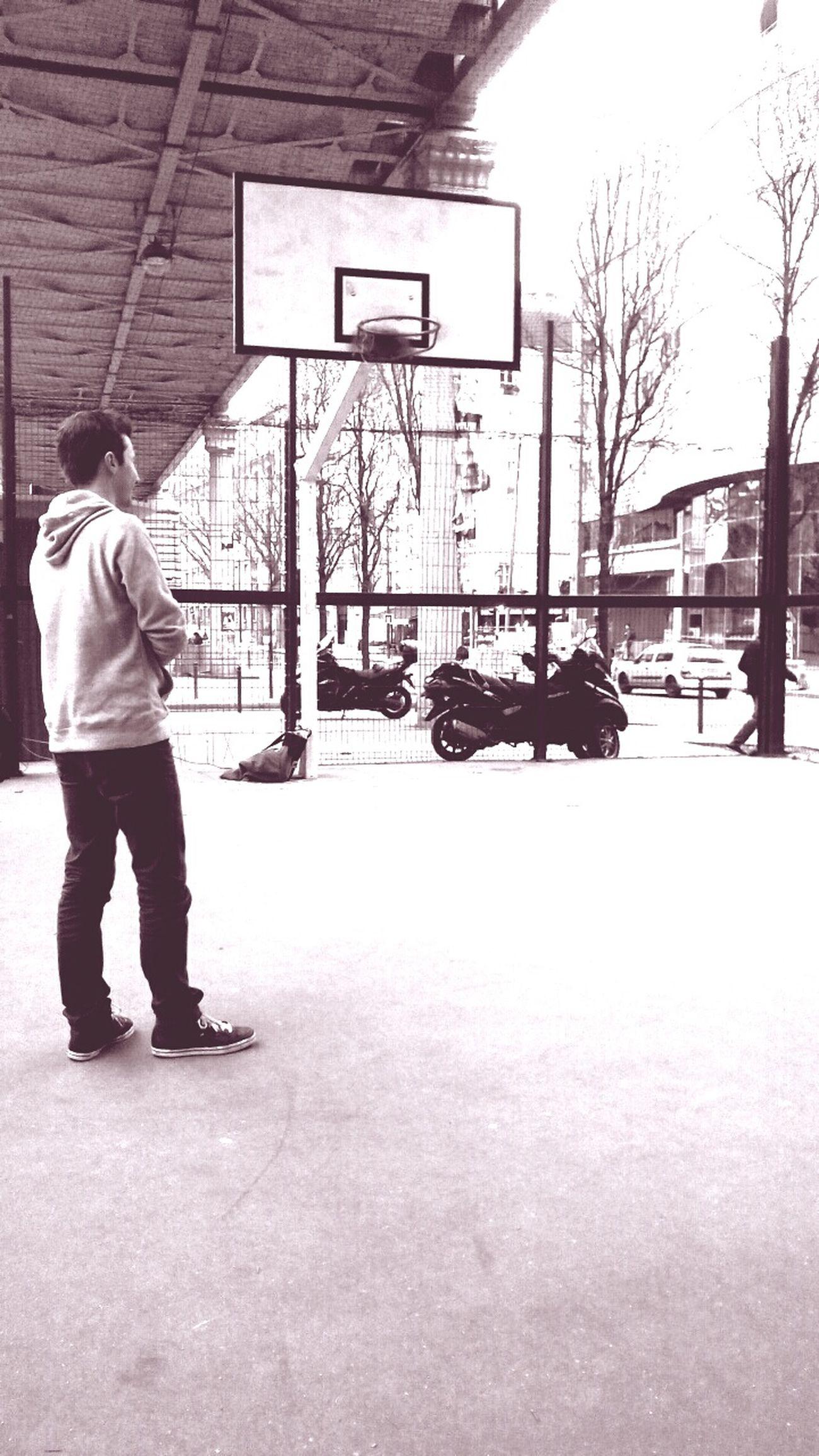 Paris Urban Street Streetbasketball Metro Blackandwhite