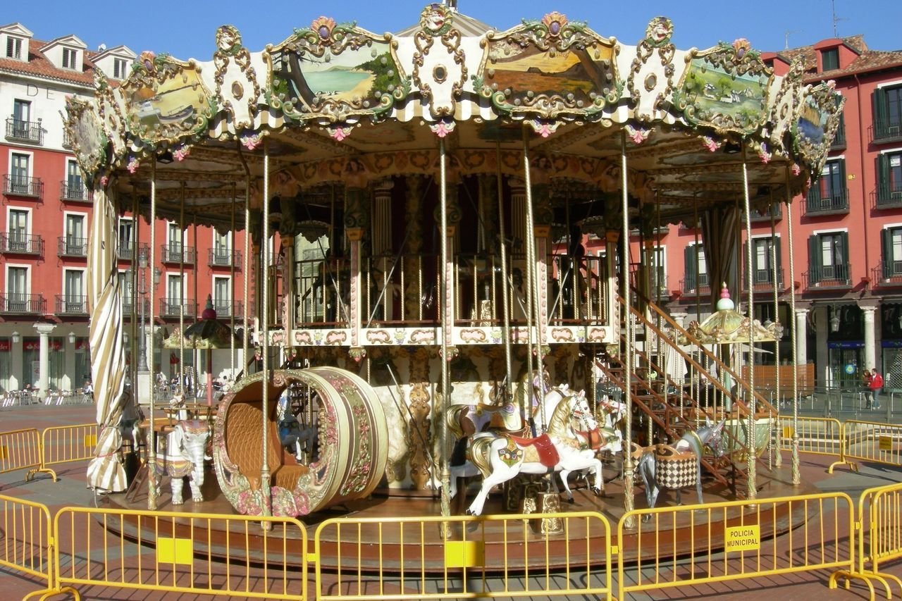 Caballitos Carousel Day Outdoors Plaza Mayor Valladolid Tiovivo