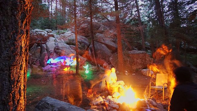 Best camping spot ever Forest Photography Lightpainting Campfire#nature#