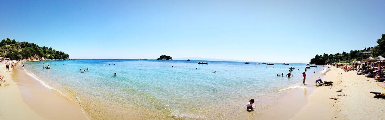 Skiathos Grecia Mare Sole Asciugamano Spiaggia Relax Sdraio Ombrellone