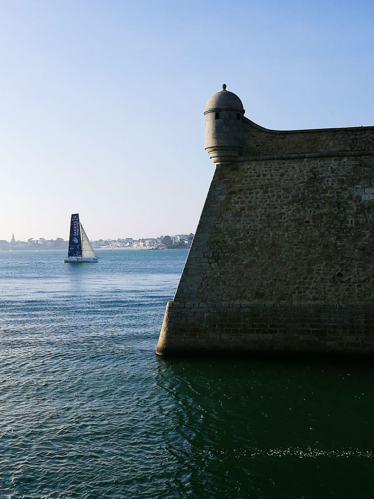 Water Sea Castle Walls Lorient Yacht Fresh On Eyeem  Calm Sea Blue Boats⛵️