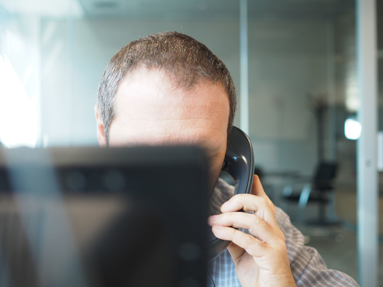Business Business Finance And Industry Business Person Businessman Call Communication Man Man Head Monitor Negotiate Office Office View Officeman One Person Only Men Phone Shirt Shirt Man Technology Telephone Telephone Line Work Work Man Employed  Working Man