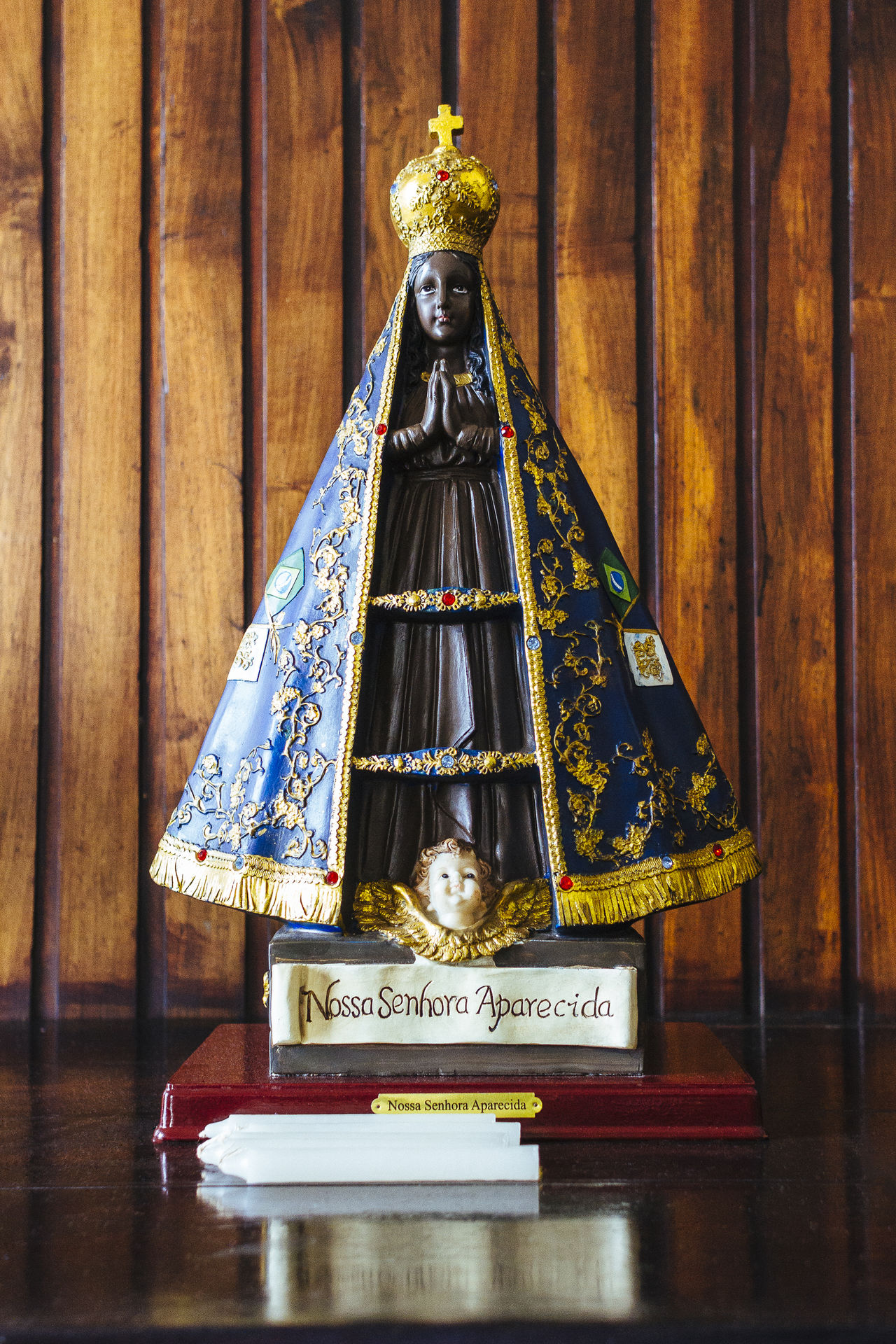 Our Lady of the Apparition patroness of Brazil Catholic Faith Catholic Image Catholicism Faith&devotion Indoors  No People Nossa Senhora Aparecida Religion And Beliefs Religion And Tradition Sacred Sacred Statue Statue