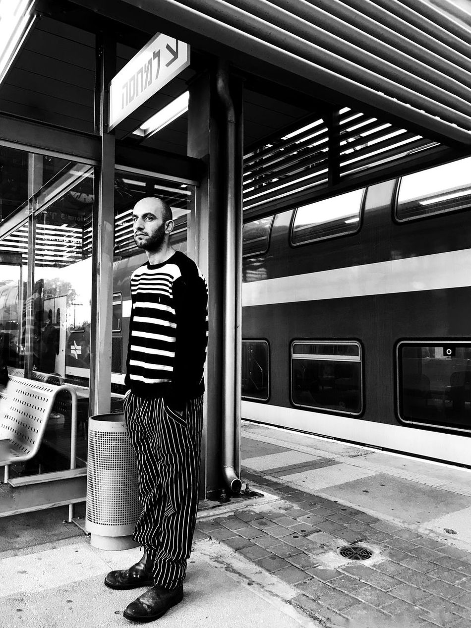 Lines Casual Clothing Real People One Person Standing Transportation Public Transportation Lifestyles Outdoors Young Adult Day Mydtrainmoments Mytrainmoments מייאייפון7 מיישחורלבן Shotoniphone7plus IPhone7Plus Break The Mold