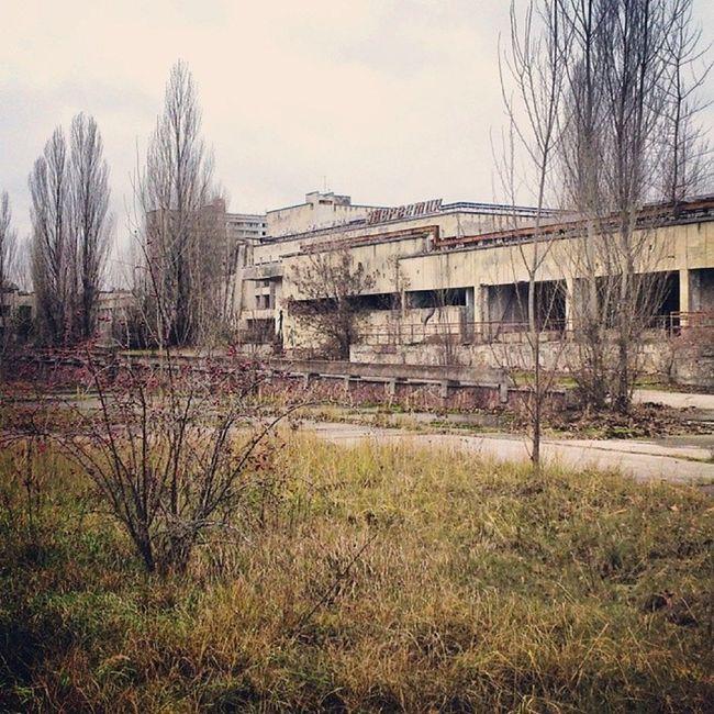 """Подступы к ДК """"Энергетик"""" припять дк_энергетик Pripyat Dk_energetic radiation"""