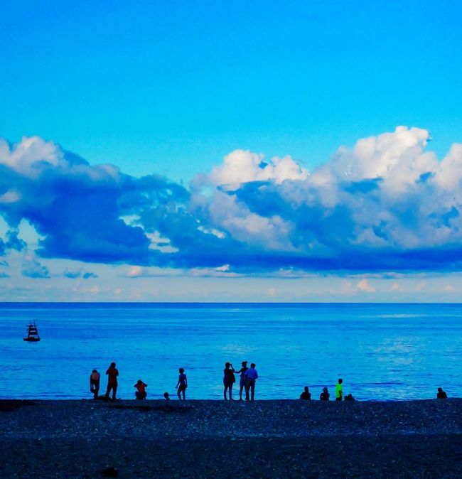 Beach Fun Sea And Sky People And Places Blue Blue Sky Seascape Seaside Seascapes Sea View Sea_collection Beachphotography Beach Ocean Hualien, Taiwan Hualien Taiwan