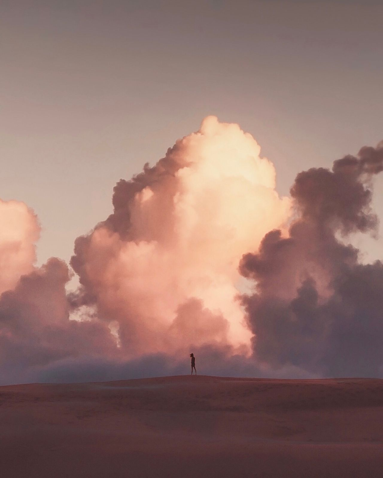 Cloud - Sky Nature Landscape Sky Silhouette Outdoors Real People Beauty In Nature Day Geyser One Person People