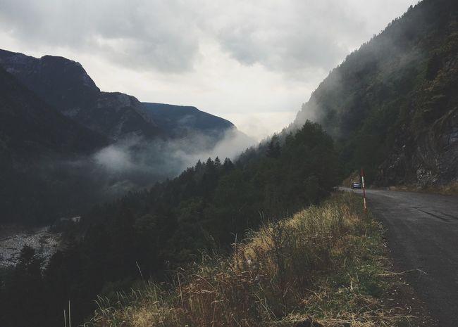 Mountain Nature Tranquility Cloud - Sky Non-urban Scene Outdoors Fog Mountain Road