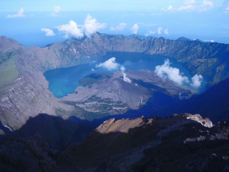 Aerial View Mountain No People Nature Landscape Outdoors Scenics Beauty In Nature Day Sky volcano Lombok Gallery Rinjanimountain Rinjani National Park Rinjanipeak INDONESIA Crater Lake Lost In The Landscape