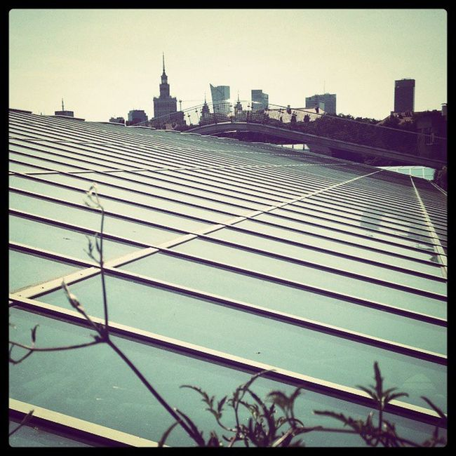 Warszawa  Warsaw Buw Biblioteka Roof