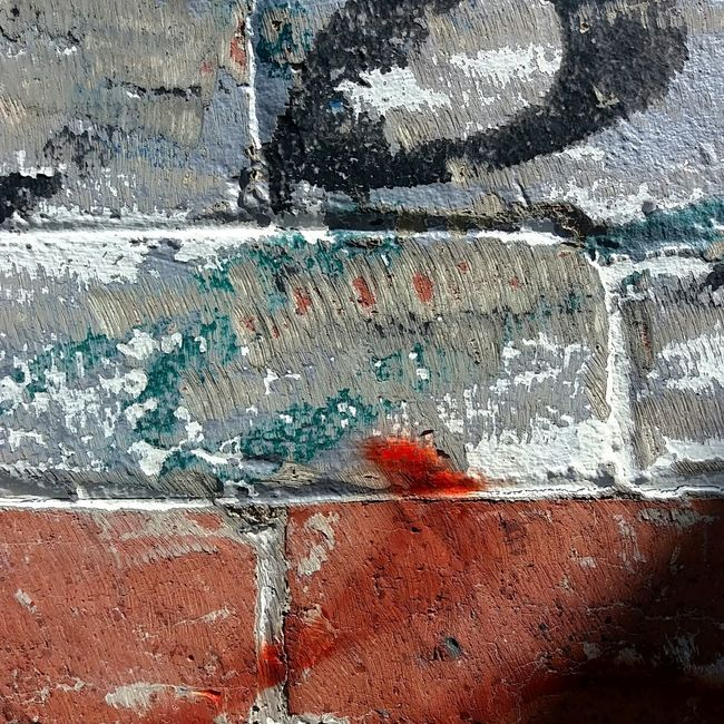 Abstract Wall Cracked Accidental Art Paintdecay Close-up Textured  Graffiti Shadow