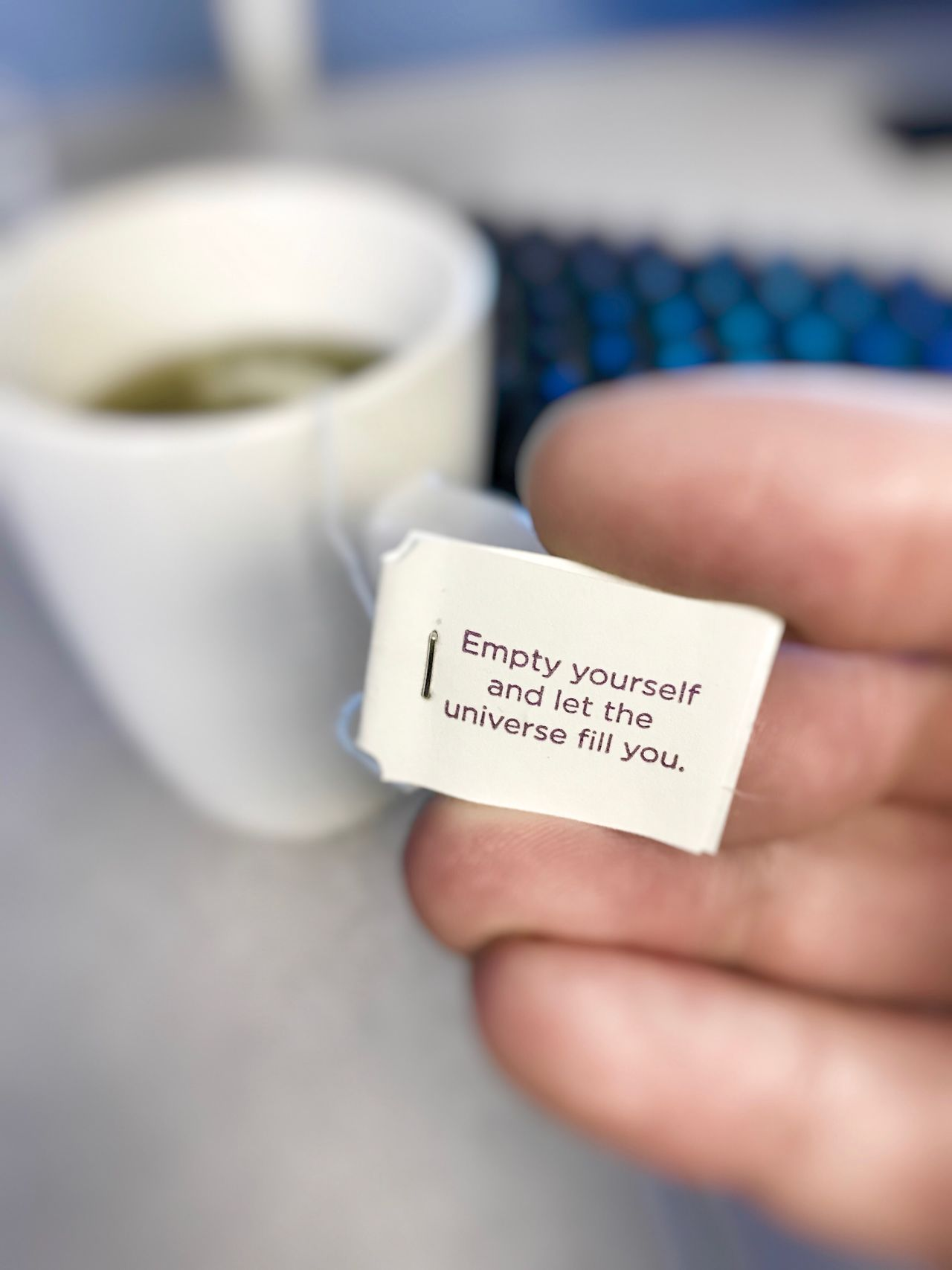 Human Hand Real People Coffee Cup Human Body Part Close-up Text Holding One Person Indoors  Communication Drink Hospital Day People Inspirational Tea