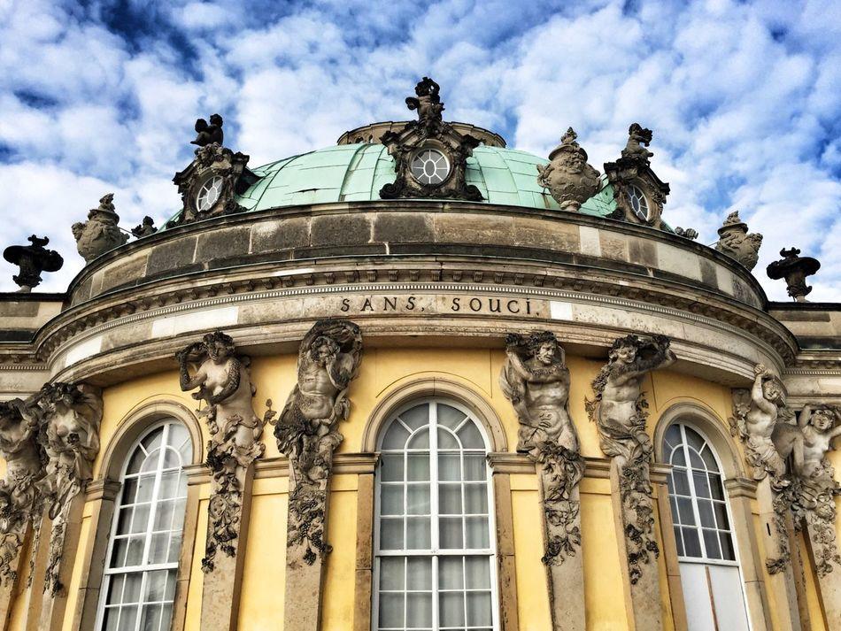 Herbstspaziergang. Sanssouci Sanssouci Park Potsdam Rokoko Castle Building Exterior Potsdam Architecture Cloud - Sky Historical Building Yellow Day Sky