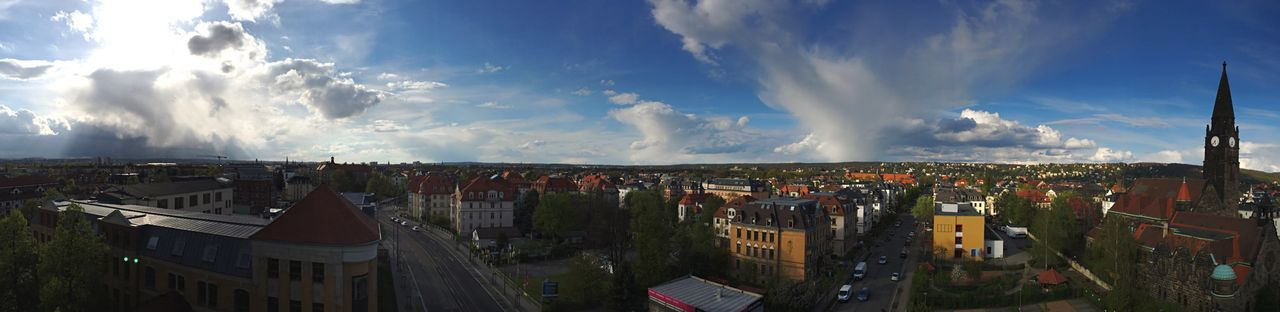 View Above Dresden - Cityscape Panoramic Cloud - Sky Travel Destinations Architecture City