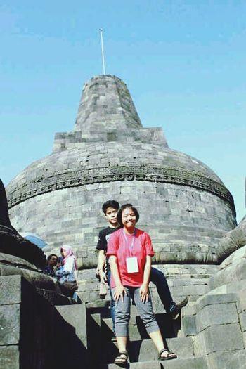 With my absurd friend Ilham Abdurrahman at Borobudur Temple in Indonesia! Holiday Borobudur Temple Taking Photos