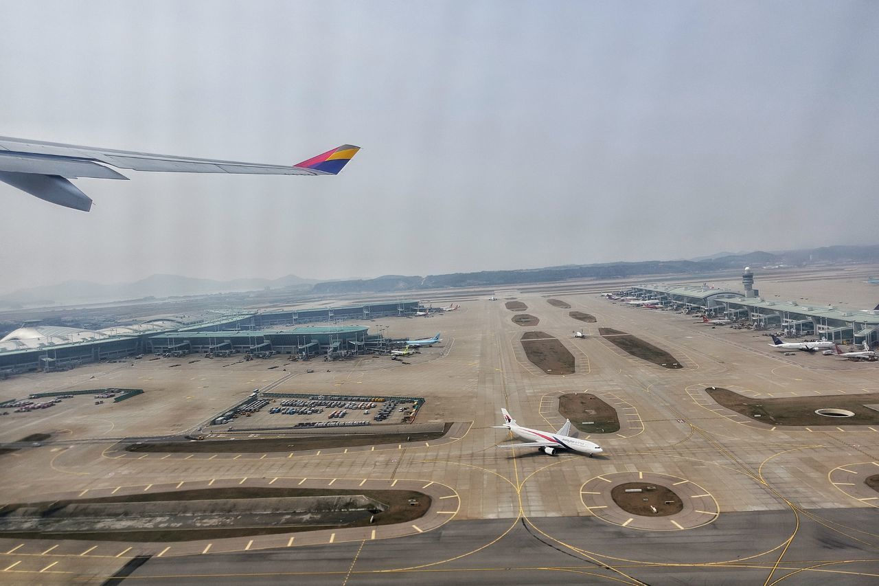 Korea Photos Airplane Aircraft Take Off Airport Runway Asiana Airlines Birdview Flight Travel In The Terminal From An Airplane Window Flying Taking Photos Streamzoofamily