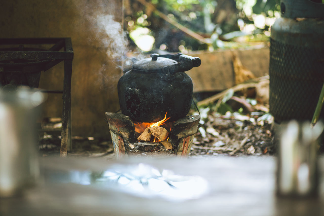 Boiling Burning Close-up Flame Heat - Temperature Outdoors Pot Rural Scene Traditional Water
