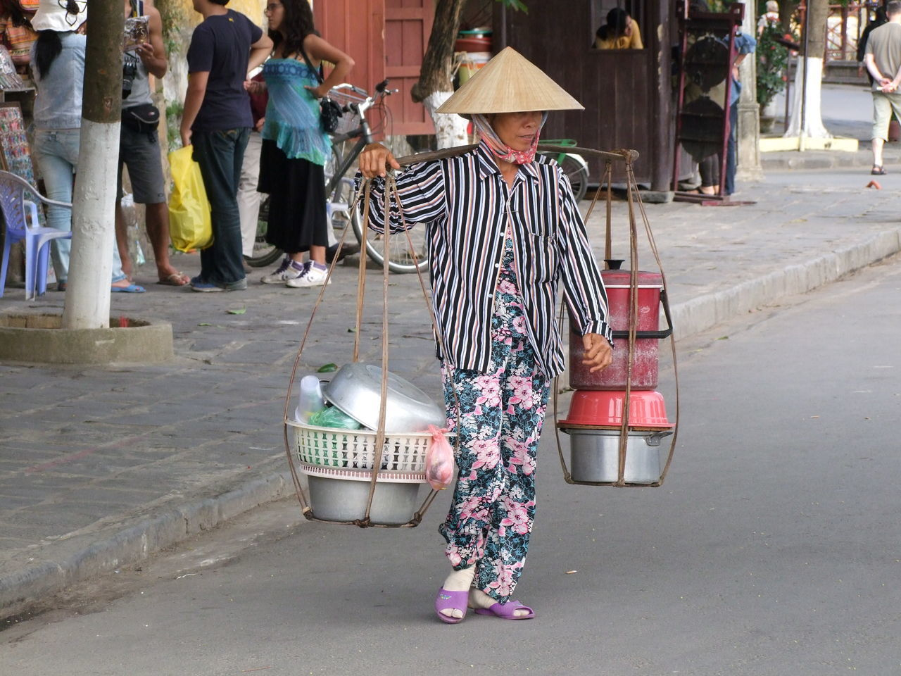 Travelling Restaurant! Business Cafe Colourful Composition Cooking Pots Culture Food Full Frame Hoi An Incidental People Making A Living Outdoor Photography Restaurant Street Tourism Traditional Traditional Clothing Travelling Restaurant Vietnam Woman