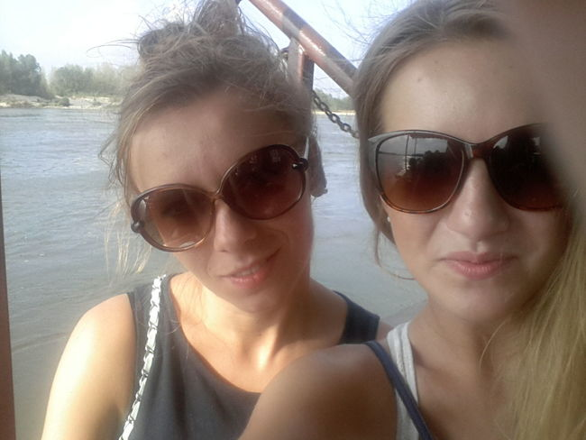 Escaping from the city for a few hours to rest :D Dog Free Time Glasses River Sisters Smile Summer Together