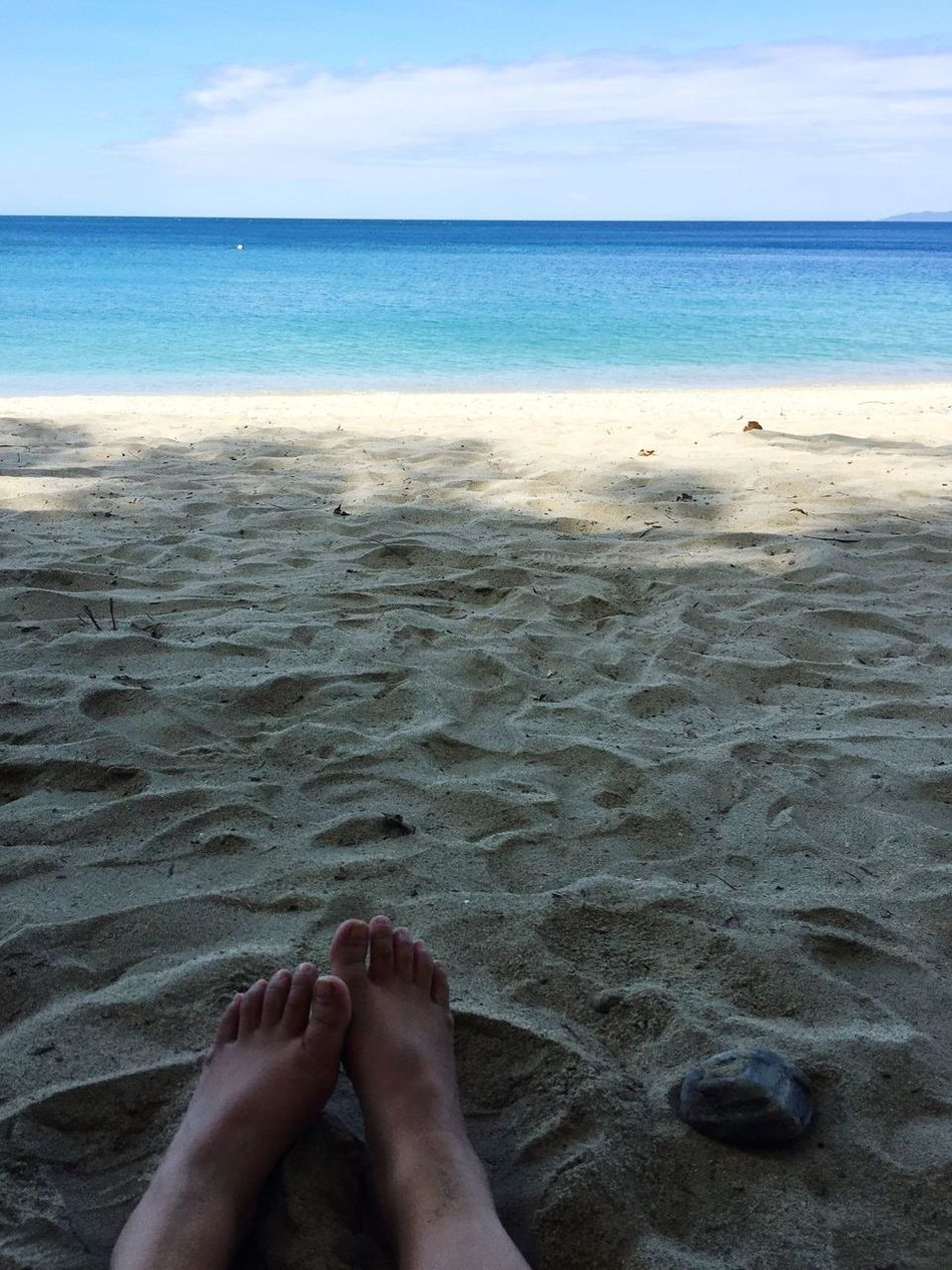 Feet in the sand Travel Water Puerto Galera, Philippines Blue Day Beach No People Horizon Over Water Sea Low Section Relaxation Person Scenics Tranquil Scene Sky Sand Vacations Barefoot Tourism Tranquility Personal Perspective Idyllic Beauty In Nature Shore Tourist