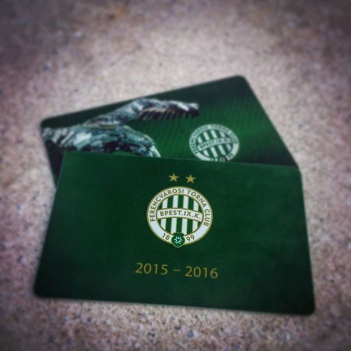 Ferencváros Bérlet Fradi FTC  Zöldfehér Hajrafradi Zöldfehér Fradicimer Mennyei Football Seasonticket Hungary